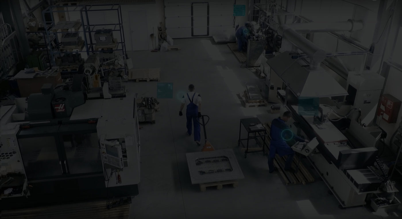 Background image of a factory.